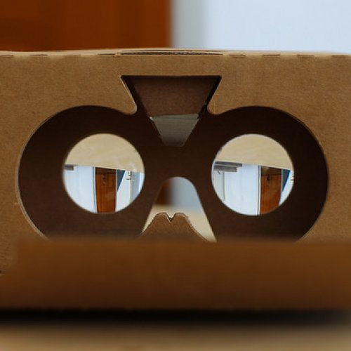 "This photo, ""Google Cardboard 2"" is copyright (c) 2015 Maurizio Pesce and made available under a Attribution-Noncommercial-Share Alike 2.0 license"