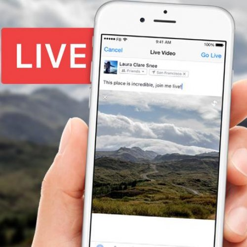 Facebook Livestream being started on a mobile device