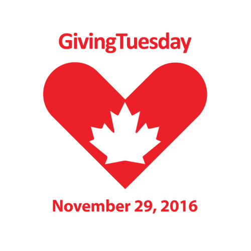 Logo for Giving Tuesday Canada, the Tuesday after Cyber Monday supporting charities