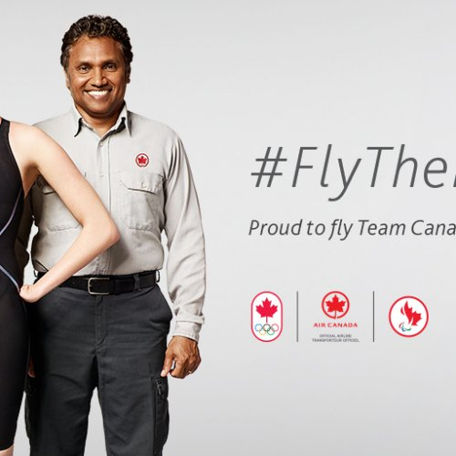 Air Canada fly the flag campaign for the Olympics