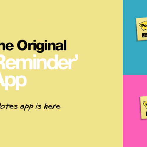 post it app the original reminder, tweet and like button