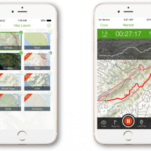 mobile phone with trail app